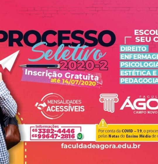 Processo Seletivo da FACULDADE ÁGORA já tem data definida!